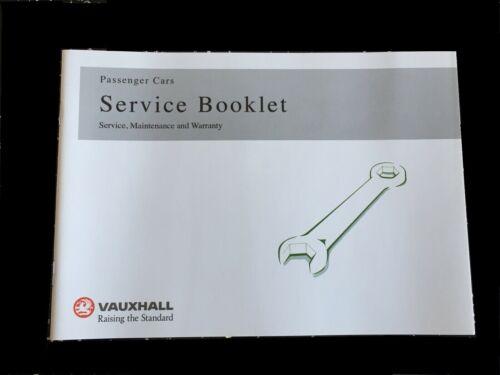 VAUXHALL CORSA SERVICE BOOK BLANK NEW