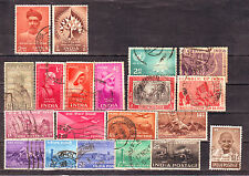 Indian-20 Diff. Anna Series(1948 Gandhi & sets Inc.) Stamps of 1947-1956 #IA03