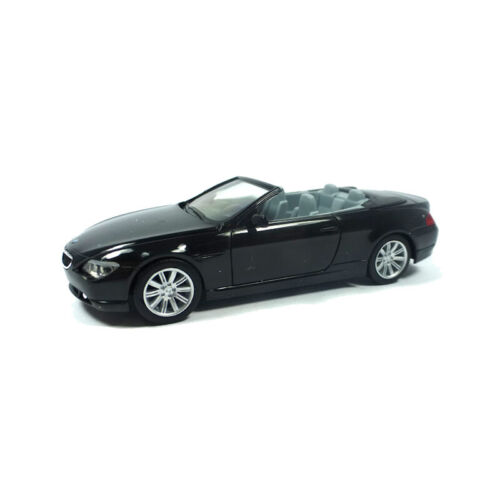 ° H0 Modellauto NEU Herpa 023245-002 BMW 6er Cabrio schwarz Maßstab 1:87
