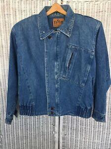 80s90s Vintage Denim Jacket with shoulder pads