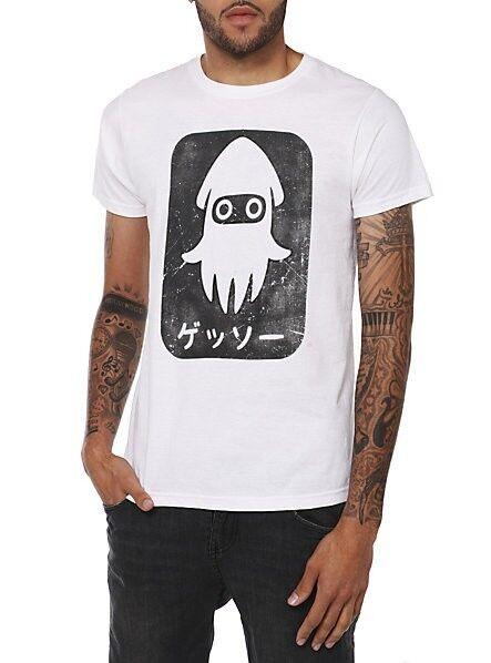Nintendo Super Mario Blooper TShirt Rare Asian Japanese Katakana Gessō Men's 2XL