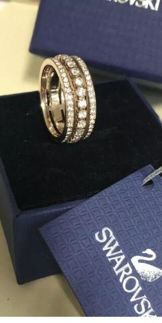 swarovski Rose Gold crystal ring