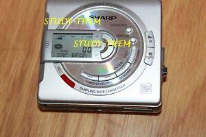 sharp 701  portable minidisc player recorder...