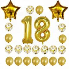 Gold Birthday Number 60 Balloon Bundle Pack of 24pcs