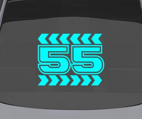 Startnummer Aufkleber Nummer wählbar Rennnummer Tatoo  Autoaufkleber 2J078/_4