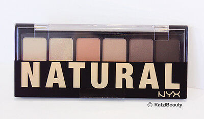 NYX The Natural 6 color Eyeshadow Palette-TNS01