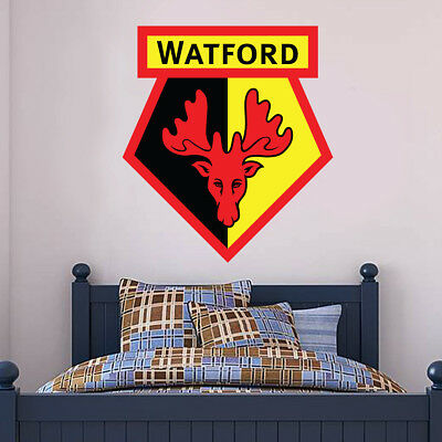 Watford FC Wall Sticker Crest /& Song Mural Watford FC Sticker Decal Set Badge