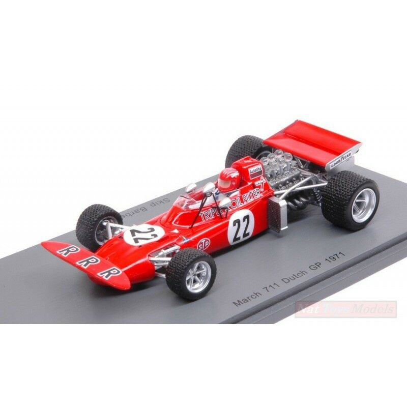 SPARK MODEL S5361 MARCH 711 S.BARBER 1971 N.22 NC DUTCH GP 1:43 DIE CAST MODEL