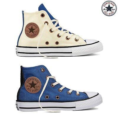 Converse Chuck Taylor Hi Scarpe Sneaker Bambini Ragazzi Panna 659964C-PANNA