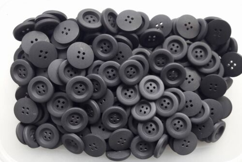 S153 23mm 36L Dark Slate Grey Coat Jacket Craft Matt 4 Hole Sewing Buttons