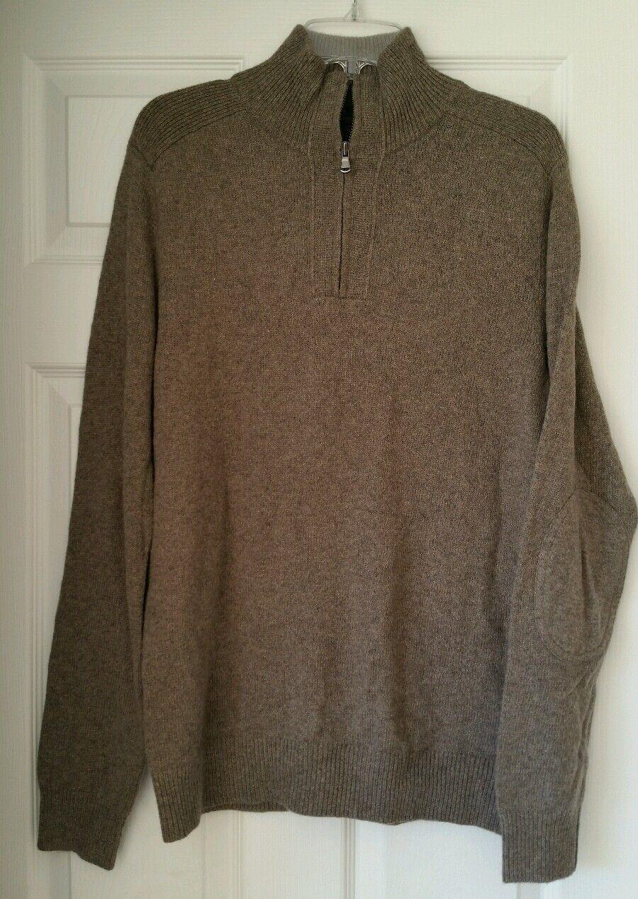 J Crew  Herren Softspun half-zip sweater E5149 popover Medium M 118 Braun
