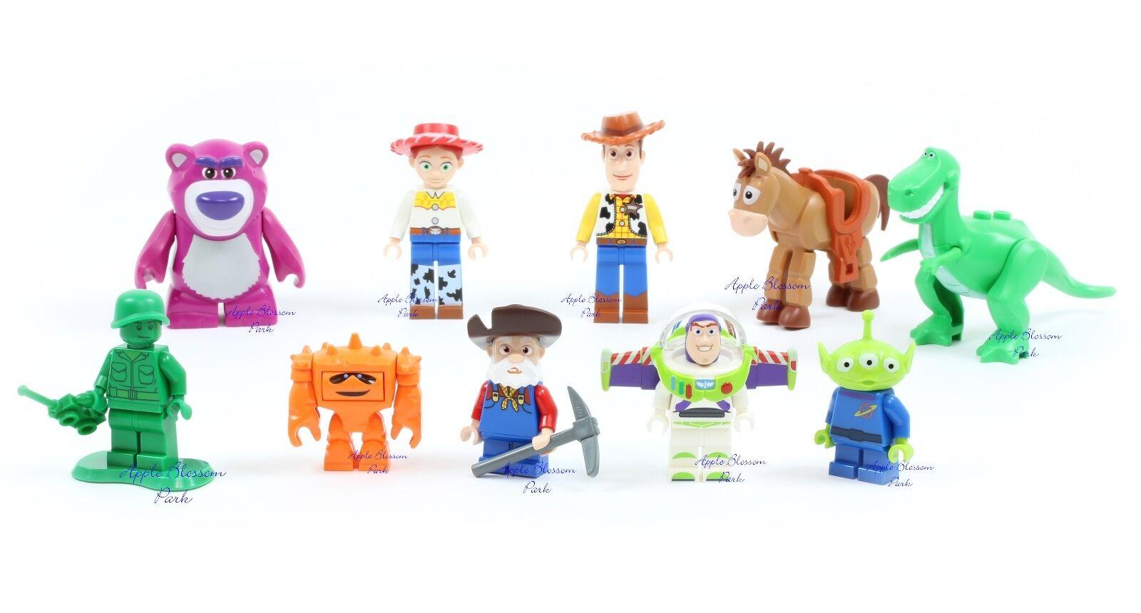 NEW Lego TOY STORY MINIFIG LOT - Woody Jesse Bullseye Rex Stinky Pete Buzz Alien