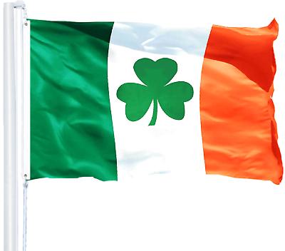 3x5 ft PRINTED IRISH SHAMROCK FLAG Clover Saint Patty/'s Ireland St Patricks