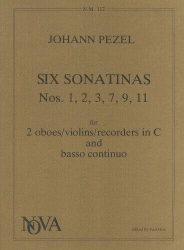 Six Sonatinas Oboe Duet Recorder Duet Violin Duet Johann Christoph Pezel  NM11