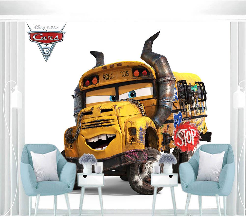 Cartoon Locomotive 3D Full Wall Mural Photo Wallpaper Printing Home Kids Decor