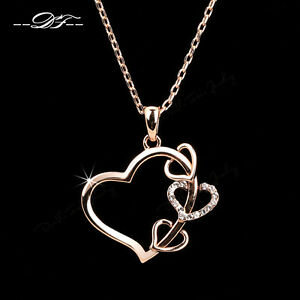 Big love hearts cubic zircon long chain necklaces pendants jewelry image is loading big love hearts cubic zircon long chain necklaces aloadofball Images
