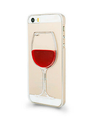 3D Novelty Moving Red Wine Liquid Phone Case Cover For iPhone & Samsung Phones