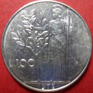 ITALY-Vintage-1978-100-LIRE-COIN-from-Republica-Italiana-NICE-Pre-EURO-COIN