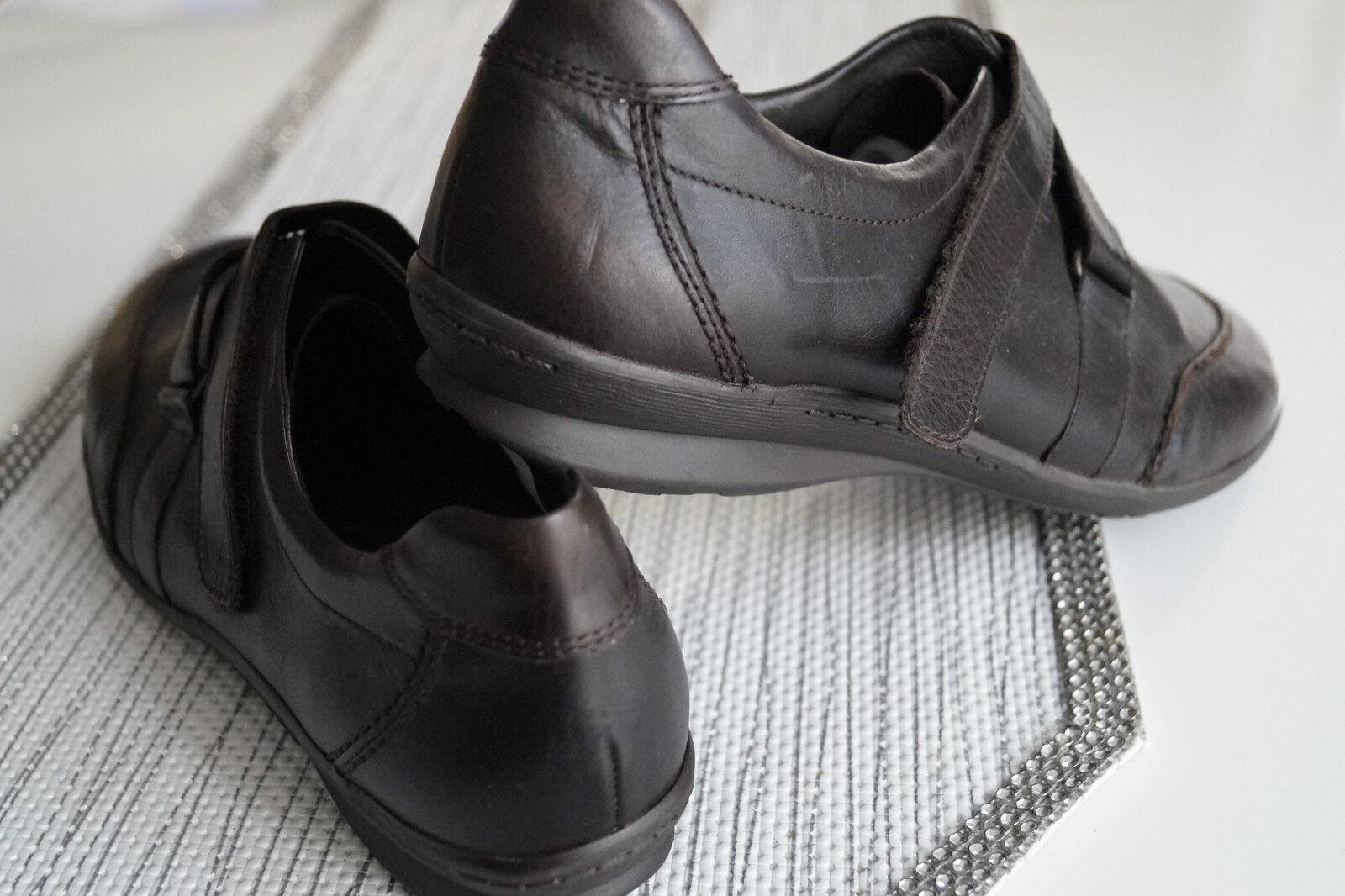 ARA Damen mit Schuhe Slipper Leder leicht mit Damen Einlagen Klett braun Gr.41 / 7,5 G NEU 37eb28