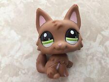 Littlest Pet Shop RARE Dog Puppy Wolf German Shepherd #2440 Brown Cat