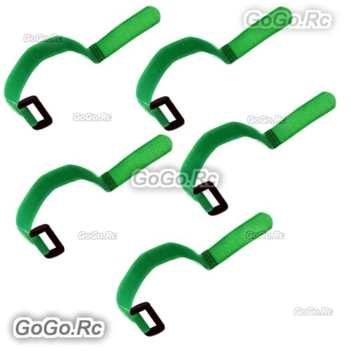 5 Pcs 315mm Battery Self-Adhesive Strap Reusable Cable Tie Wrap hook loop Green