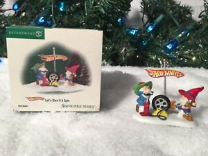 NEW-DEPARTMENT-56-NORTH-POLE-SERIES-LETS-GIVE-IT-A-SPIN-HOTWHEELS-56441