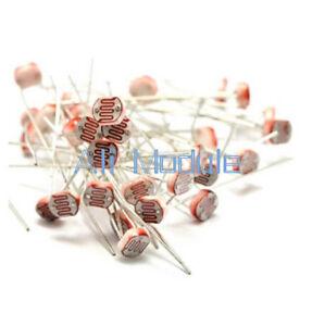 50PCS Photoresistor LDR CDS 5mm Light-Dependent Resistor Sensor ...