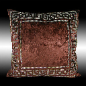 Chocolate Velvet Throw Pillow Case