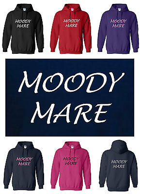 PüNktlich New Adult Funny Horse / Pony Hoody / Hoodie Moody Mare S/m/l/xl/xxl