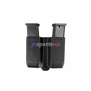 Dual-Magazine-Holster-Quick-Draw-Double-Stack-Mag-Pouch-Holder-f-9mm-to-45-cal