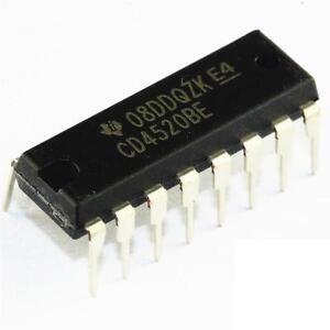 2PCS CD4520BE DIP-16 CD4520 DIP16 TI Dual Binary UP Counter