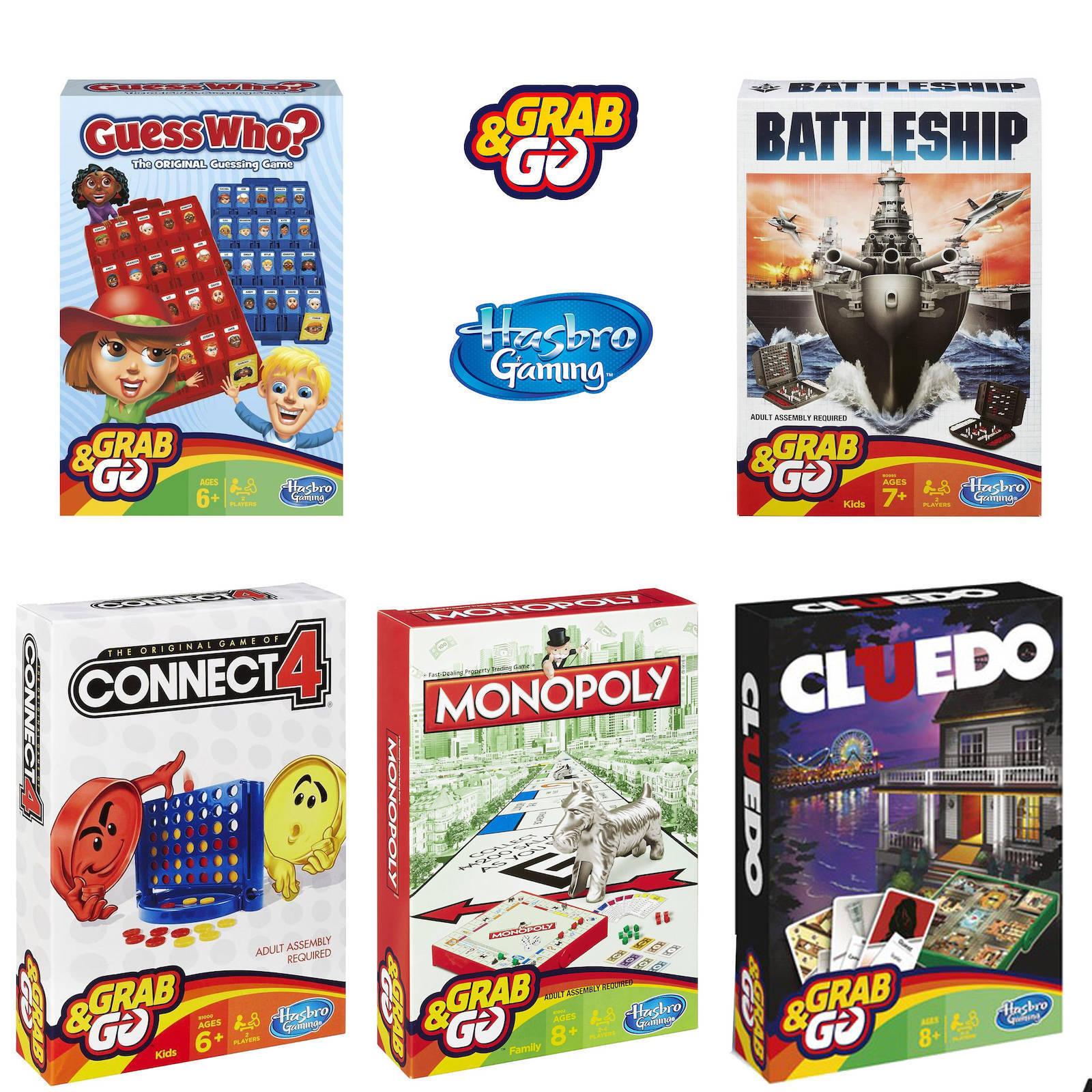 Hasbro Gioco Viaggi Pacchetto Confezione di 5   Monopoly Guess Who Cluedo