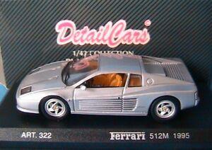 FERRARI-512M-SILVER-1995-DETAIL-CARS-322-1-43-DETAILCARS-ARGENT-SILBER-GRIS