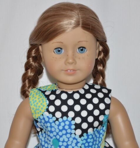 """Black Polk A Dot Floral Dress For 18"""" American Girl Doll Clothes"""