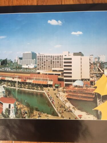 """12"""" x 36""""  MINT! Tennessee Panorama Poster Vintage 1982 Worlds Fair Knoxville"""