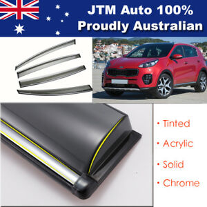 INJ-Chrome-Weather-Shield-Weathershield-Window-Visor-for-Kia-Sportage-QL-2016