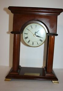 Bombay-Co-Wood-Mantel-Clock-Arched-with-Columns