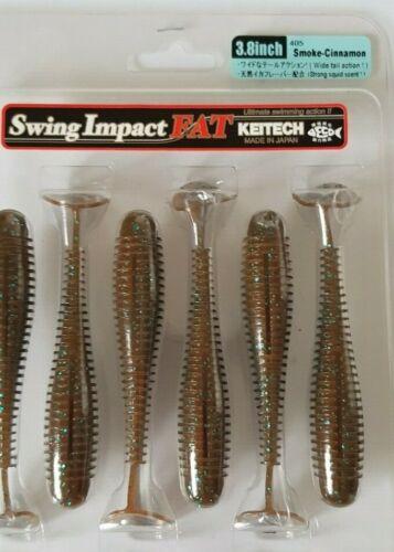 KEITECH SWING IMPACT FAT 3.8 strong squid scent predator lure bait jig 6pcs