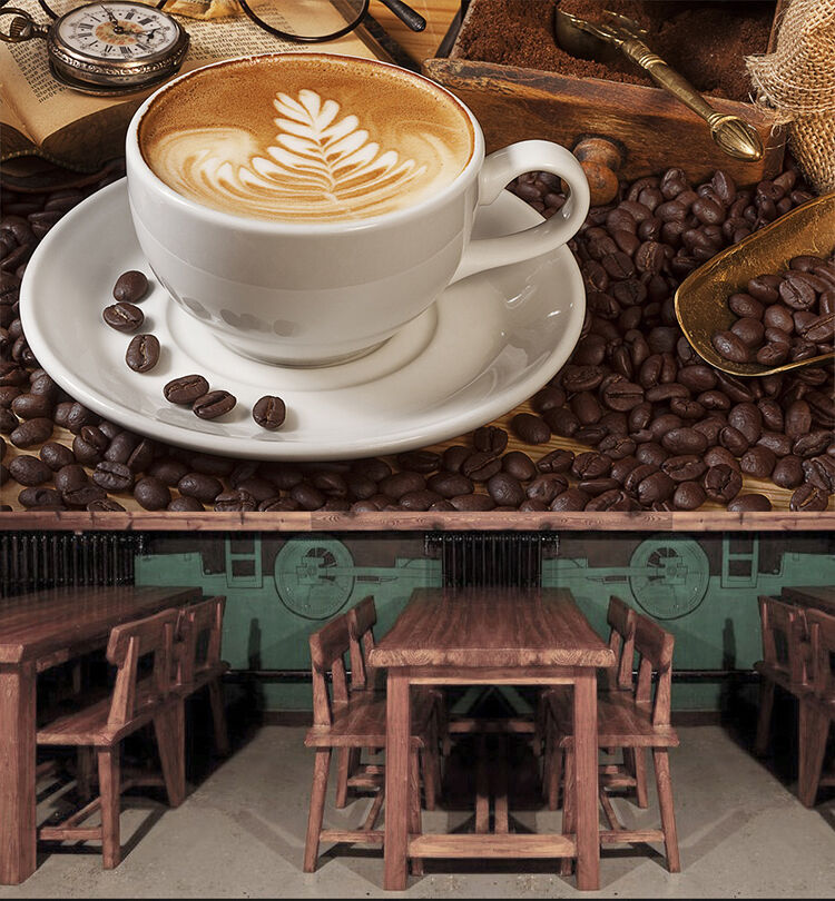 3D Coffee Cappuccino 1034 Paper Wall Print Wall Decal Wall Deco Indoor Murals