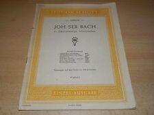 Inventionen und Sinfonien HN 589 ersetzt HN 64 Urtext Bach für Klavier