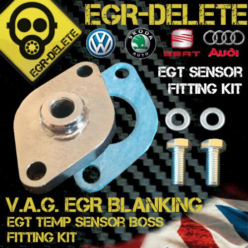 VW SKODA SEAT AUDI TDI EGT EGR BLANKING PLATE EGT sensor fitting kit not gauge