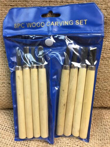 CLEARANCE LINE S35 8 PIECE WOOD CARVING MODELERS CHISEL SET PEN SIZED CLAY SCULP