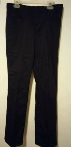 Juniors DICKIES 71969 Girls Flare Leg Stretch Pants DARK NAVY Size 17 NWT