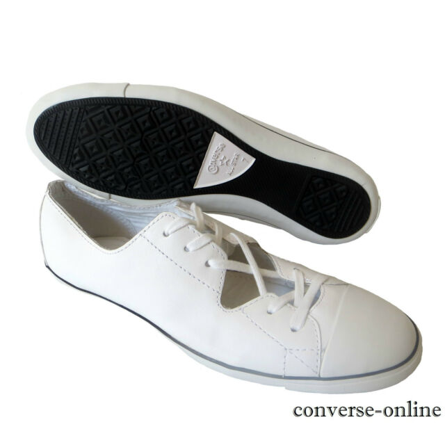 c56bf806fb10cc Women s Converse All Star Light Ox Cutout White Leather Trainers Shoes UK  Size 5