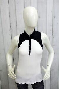 BURBERRY-Donna-T-Shirt-Maglia-Maglietta-Casual-Polo-Senza-Maniche-Taglia-S