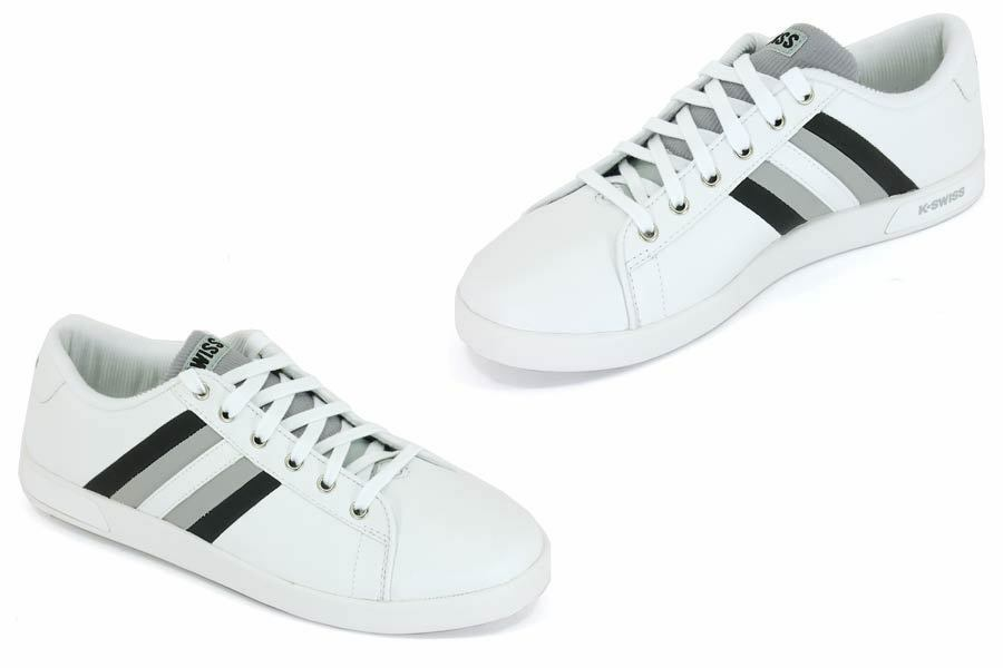 K Swiss Welford Mens Reversible Tongue White Lo Casual Mens Trainers Shoes UK 8