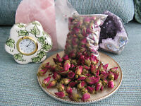 Dried Natural Miniature Red/pink Petite Rose Buds--so Lovely