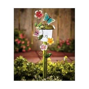 Outdoor butterfly solar garden stakes decorative lights for Decorative garden stakes