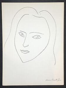 Henri-Matisse-Original-Lithograph-034-A-la-memoire-de-Angela-Lamotte-I-034-Verve-1945