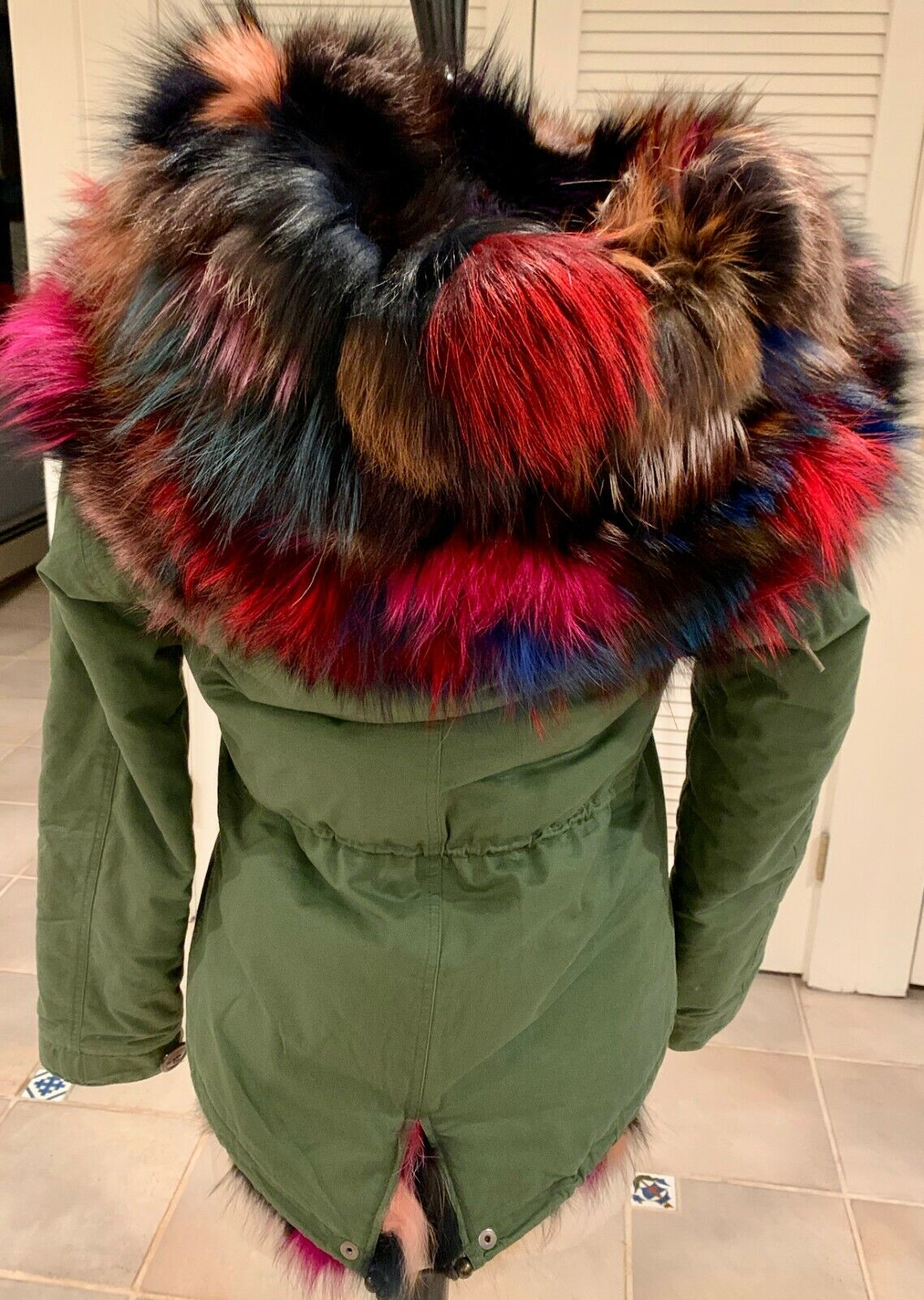 D. Damiani NY Multi-Color Fur Lined Coat Small - image 4